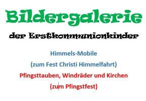 Erstkommunion 2020 zum Pfingstfest und Fronleichnam